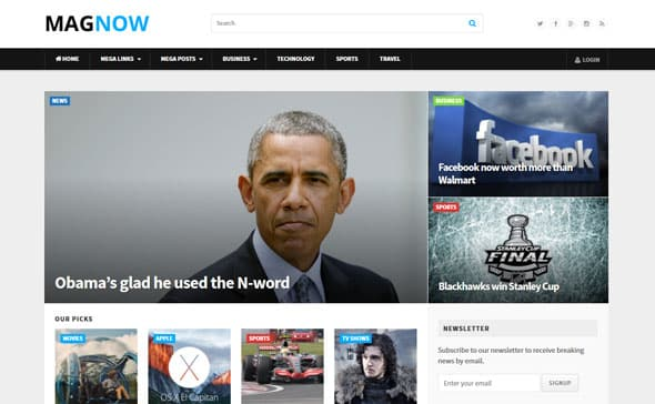 Tema Magnow - Template WordPress