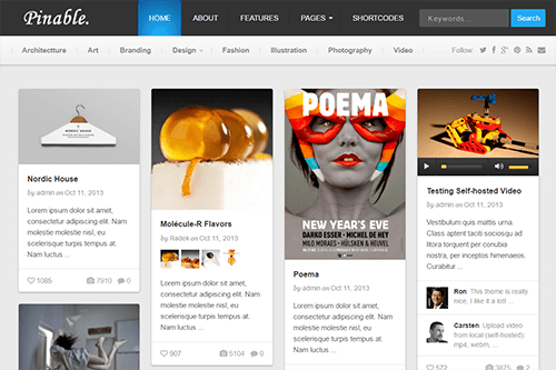Tema Pinable - Template WordPress
