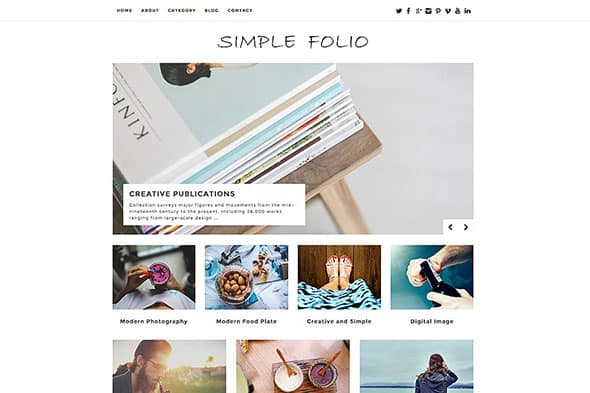 Tema Simple Folio - Template WordPress