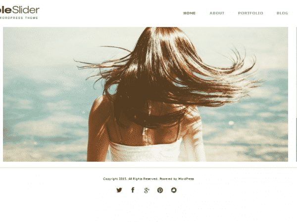 Tema Simple Slider - Template WordPress
