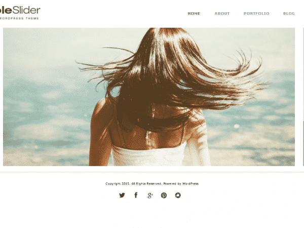 Tema Simple Slider - Template WordPress