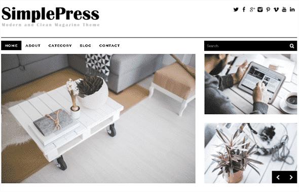 Tema SimplePress Dessign - Template WordPress
