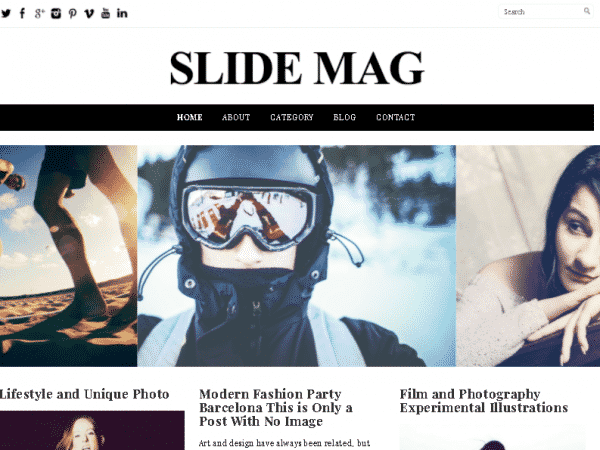 Tema Slide Mag - Template WordPress