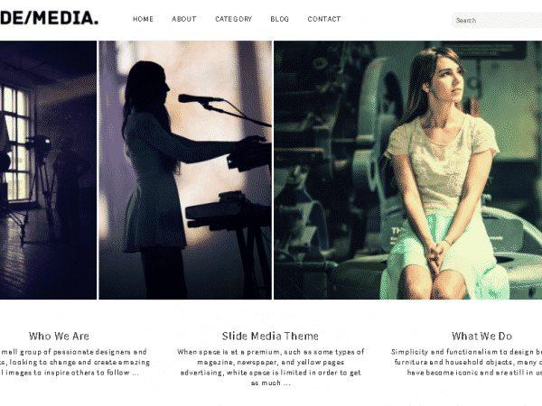 Tema Slide Media - Template WordPress
