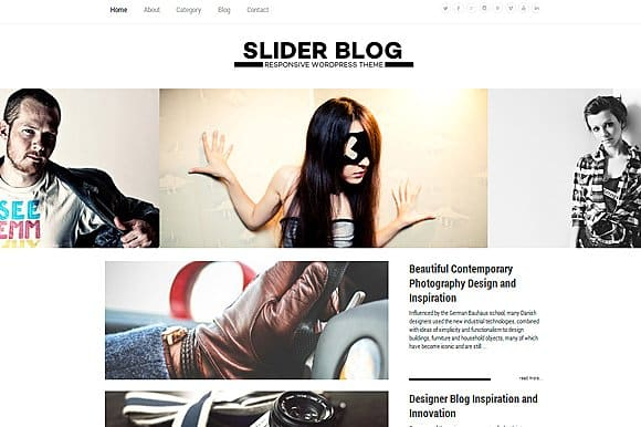 Tema Sliderblog - Template WordPress