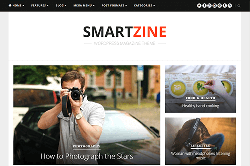 Tema SmartZine - Template WordPress
