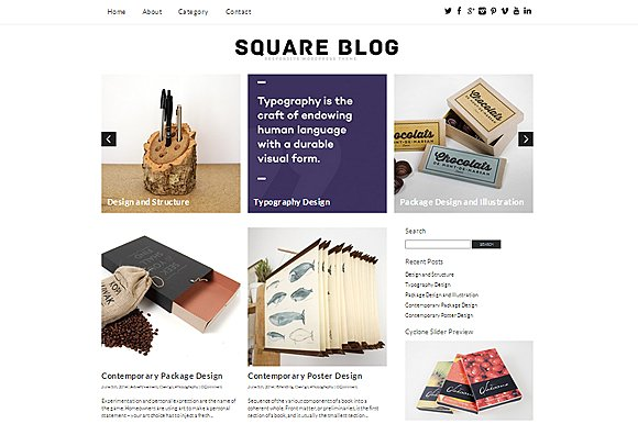 Tema Square Blog - Template WordPress