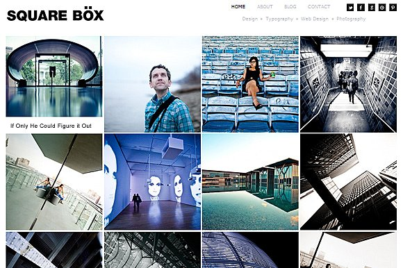 Tema Square Box - Template WordPress