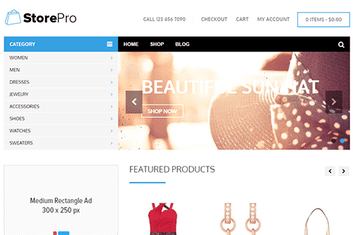 Tema StorePro - Template WordPress