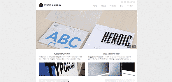 Tema Studio Gallery - Template WordPress