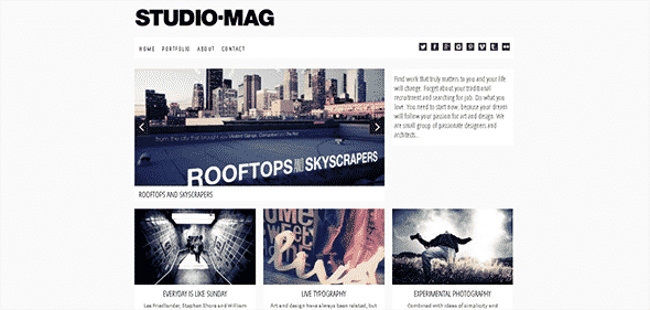 Tema Studio Mag - Template WordPress