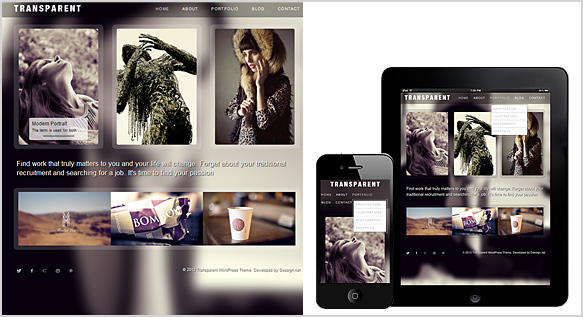 Tema Transparent - Template WordPress