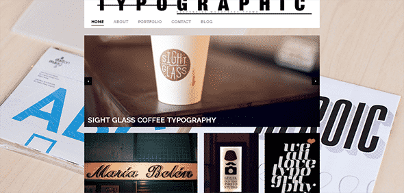 Tema Typografic - Template WordPress