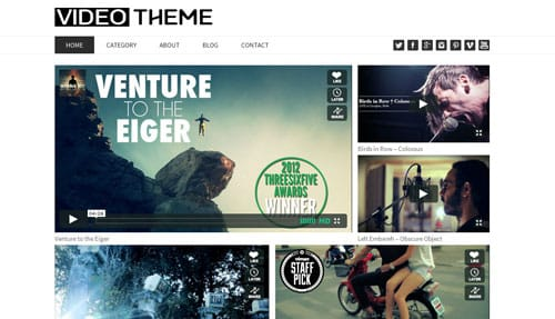Tema Video - Template WordPress