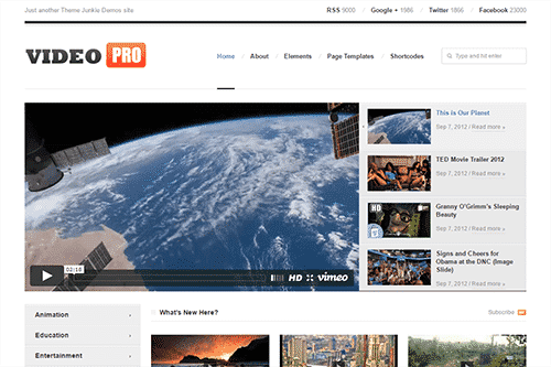 Tema VideoPro ThemeJunkie - Template WordPress