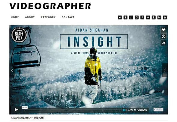 Tema Videographer - Template WordPress