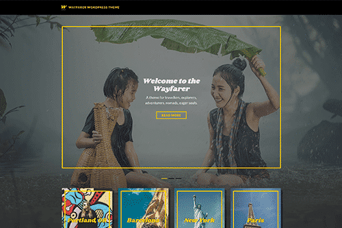 Tema WayFarer - Template WordPress