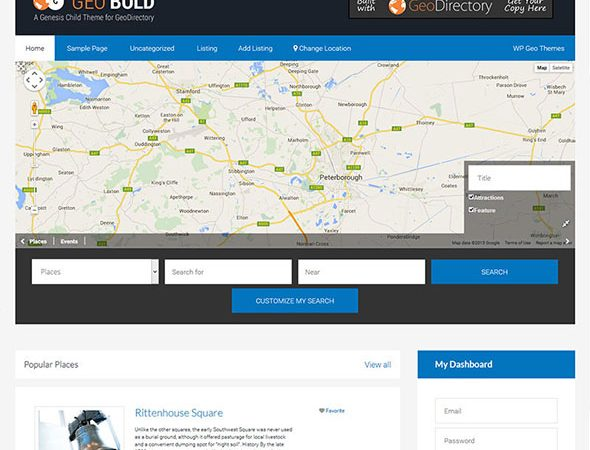 Tema Geo Bold - Template WordPress