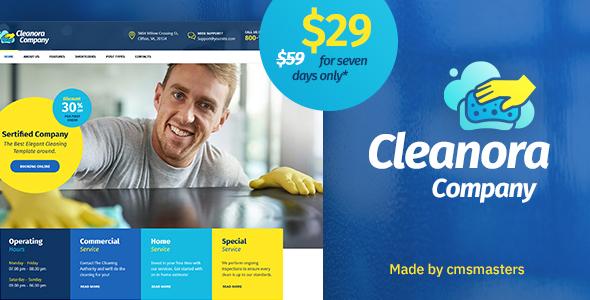 Tema Cleanora - Template WordPress