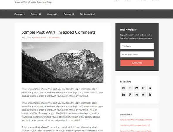 Tema Sample - Template WordPress