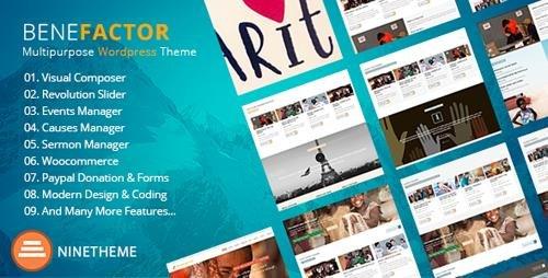 Tema Benefactor - Template WordPress