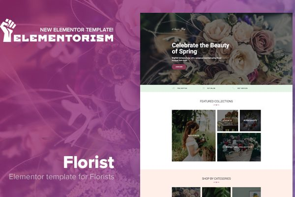 Tema Florist Elementor - Template WordPress