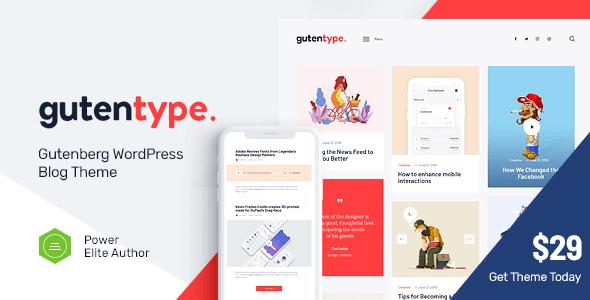 Tema Gutentype - Template WordPress