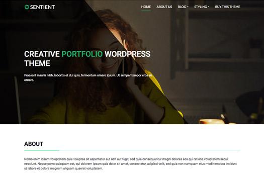 Tema Sentient Cyberchimps - Template WordPress