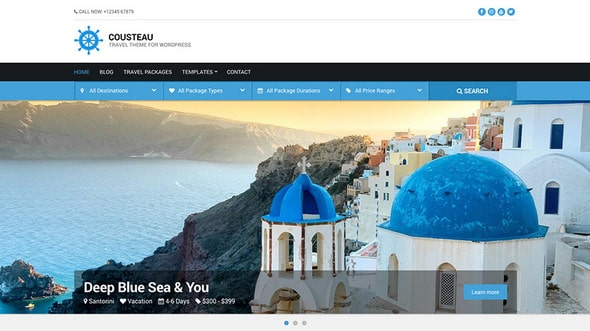 Tema Cousteau Pro - Template WordPress