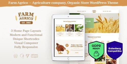 Tema Farm Agrico - Template WordPress