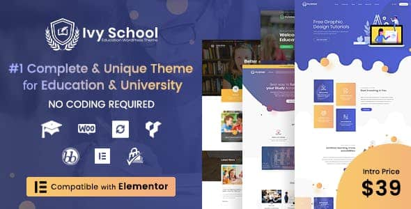 Tema Ivy School - Template WordPress