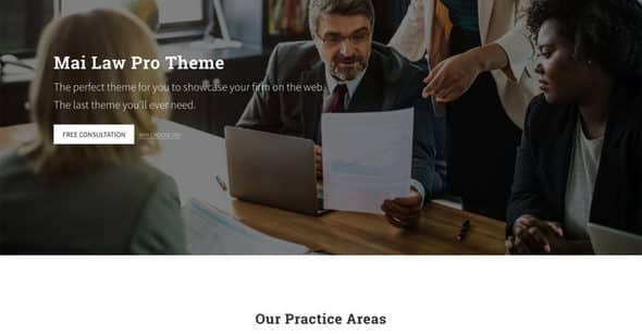 Tema Mai Law Pro - Template WordPress