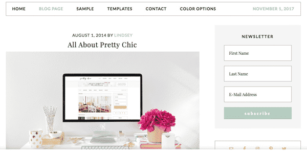 Tema Pretty Chic Pro - Template WordPress