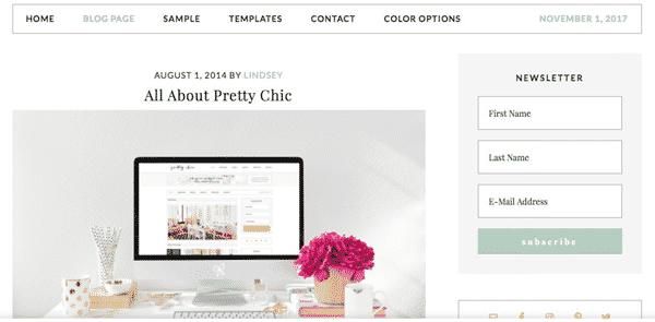 Tema Pretty Chic Pro - Template WordPress