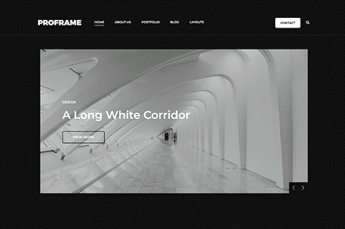 Tema ProFrame - Template WordPress
