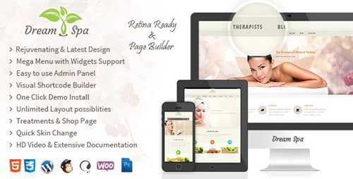 Tema Dream Spa - Template WordPress