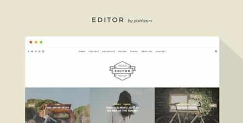 Tema Editor - Template WordPress