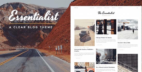 Tema Essentialist - Template WordPress