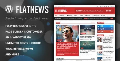 Tema Flatnews - Template WordPress