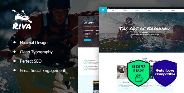 Tema Kayaking - Template WordPress