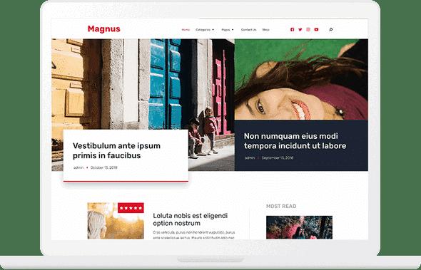 Tema Magnus - Template WordPress