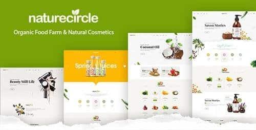 Tema NatureCircle - Template WordPress