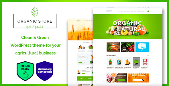 Tema Organic Store - Template WordPress