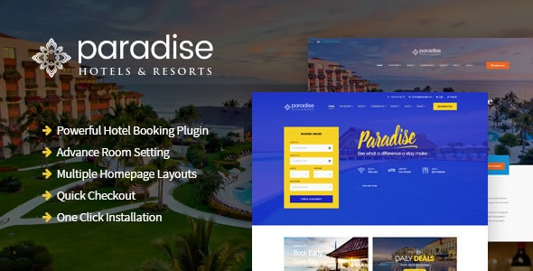 Tema Paradise - Template WordPress