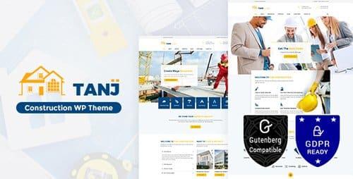 Tema Tanj Construction - Template WordPress