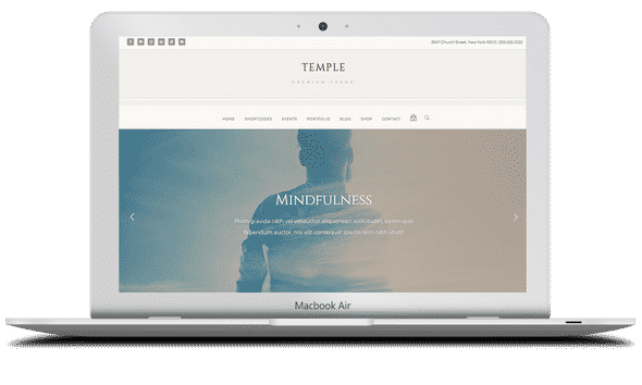 Tema Temple - Template WordPress