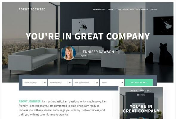Tema Agent Focused Pro - Template WordPress