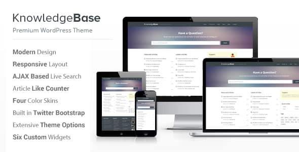 Tema Knowledge Base - Template WordPress