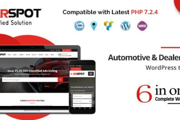 Tema CarSpot - Template WordPress
