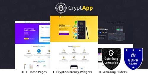 Tema CryptApp - Template WordPress
